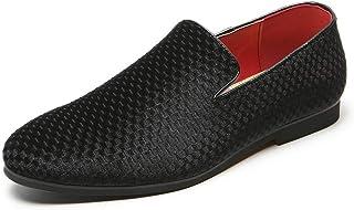 CAIFENG Loisirs Mocassins for Hommes Glissement Chaussures Bateau Velours supérieur Bout Rond léger Chaussures de Tenue dé...