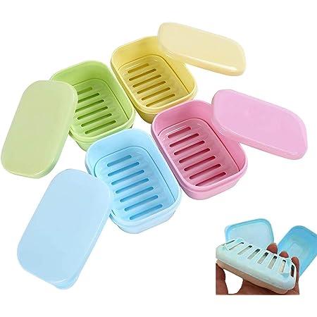 Salle de Bain Smiley Plastique Soap Dish Tray Box Voyage Porte-conteneur de stockage