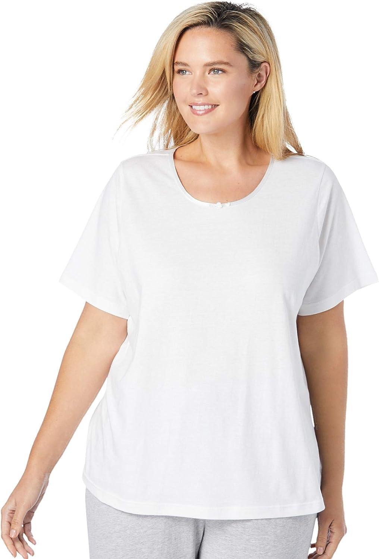 Dreams & Co. Women's Plus Size Sleep Tee Pajama Top