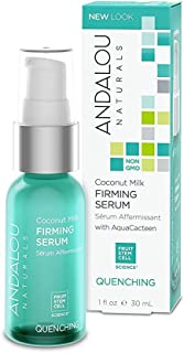 Andalou Naturals Coconut Milk Firming Serum, 1 Ounce Firming and Smoothing Serum for the Face