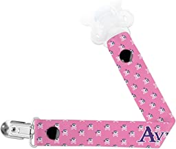 Pink Pirate Pacifier Clips (Personalized)