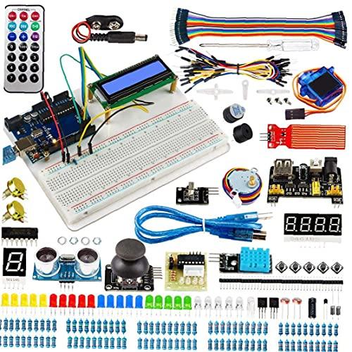 Progetti Starter Kit elemento elettronico Kit Super Starter Kit Circuito Breadborad Compatibile con Arduino