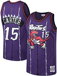 Men's Jersey NBA Basketball Uniform, NBA Men's Toronto Raptors Vince Carter Mitchell #15 Jersey, Retro Classic Fan Uniform...