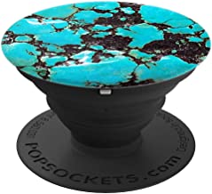 Turquoise Marble Stone Slab Print Southern Glam Phone Grip - PopSockets Grip and Stand for Phones and Tablets