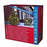 Konstsmide 3613-140 Micro LED Lichterkette / für Außen (IP44) /  24V Außentrafo / 200 warm weiße Dioden / 25 funkelnde Dioden / schwarzes Kabel