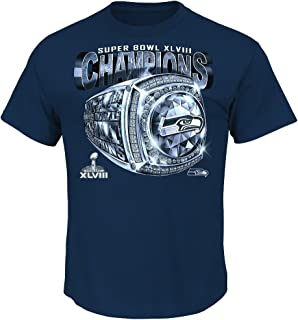 Majestic Athletic Seattle Seahawks 2013 Super Bowl Champs Victory Bling Championship T-Shirt
