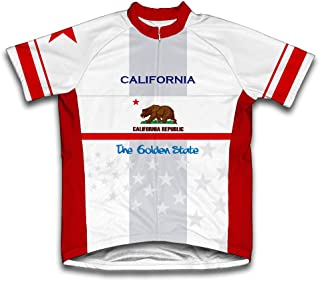 ScudoPro California Flag Short Sleeve Cycling Jersey for Women