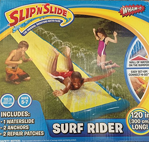 Slip n Slide SURF RIDER 3m ages 5-7, Garden Lawn Toy, Water Game, 120 inches or 10 foot long by WHAM-O, Childrens outdoor activity water toy.