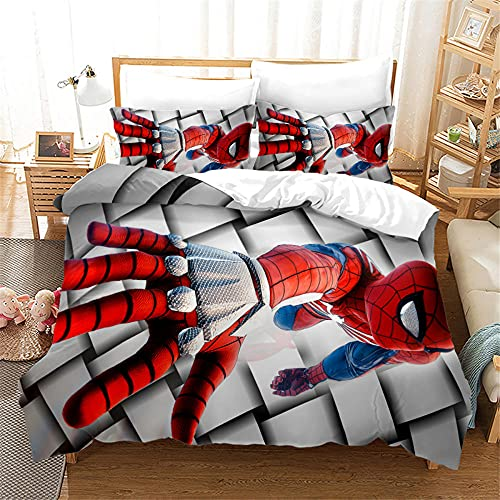 Sacca Copripiumino Matrimoniale Avengers Supereroe Spiderman Con Cerniera E 2 Federa 50X80 Cm Microfibra Morbida Matrimoniale Copripiumino 220 X 240 Cm