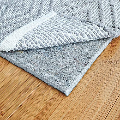 RUGPADUSA - Basics - 5'x7' - 1/4' Thick - Felt + Rubber - Protective Non-Slip Rug Pad - Cushioning Felt for Added Comfort - Safe for All Floors and Finishes - Cut to Size for a Perfect Fit