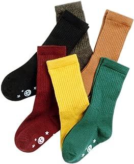 VWU 6 Pack Little Girls Boys Tube Socks Knee High Socks 1-10 Years