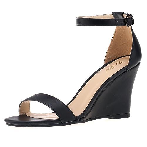 Wedge Dress Sandals Black Dress Sandals Wedge Black Black nm8vN0w