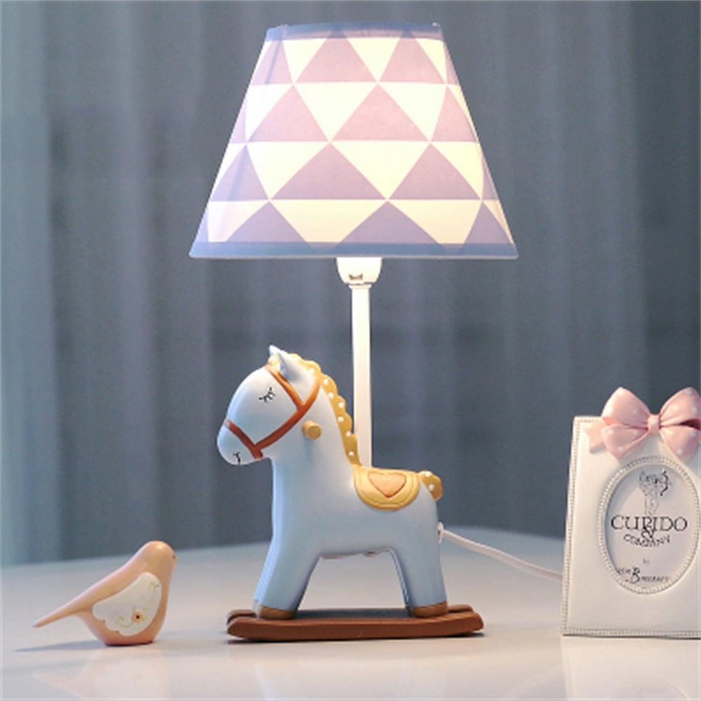SMC Tischlampe Kinderzimmer Cartoon Pony Tischlampe Schlafzimmer Nachttischlampe Kreative Mode Nette Warme Junge Mdchen Dekorative Tischlampe (Gre   45cm)