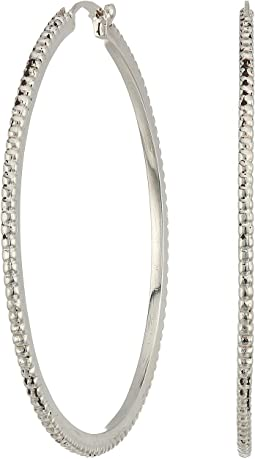 Coin Edge Single Hoop Earrings
