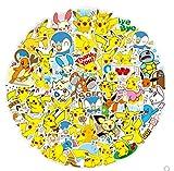 JZLMF Pikachu Autocollants Pokémon Pokemon Autocollants Mot de Passe boîte Autocollants marée...