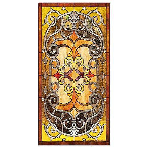RAIN QUEEN Fensterfolie statische Aufkleber Glasdekorfolie Milchglasfolie Sichtschutzfolie Blickdicht Folie Selbstklebend bunt (60 * 150cm, Abstrakte Kunst)