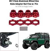 Cigooxm M17 17mm Aluminum Wheel Hex Hubs Adapter Nut with Pin for 1/8 RC Car Buggy Truggy Monster Truck Crawler HPI HSP Traxxas Losi Axial Kyosho Tamiya Redcat Himoto DF ZD Racing