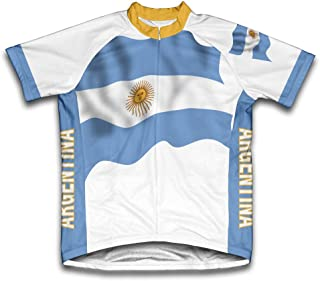 ScudoPro Argentina Flag Short Sleeve Cycling Jersey for Women