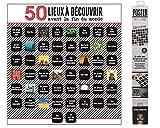 Póster 50 lugares para descubrir antes del fin del mundo, póster, para despegar, dimensiones: 60 x 56 cm. ¡¡¡En cualquier lugar que te comprometas a visitar antes del final del mundo!