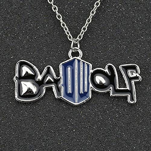YUNMENG Dr Doctor Who Collar Badwolf Bad Wolf Dw Rose Tyler Esmalte Color Plata Colgante Moda película Caliente joyería