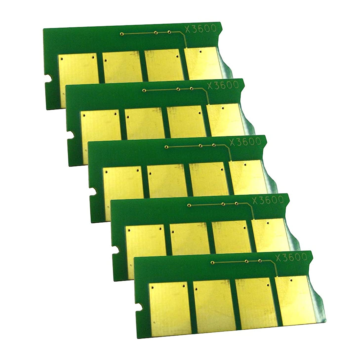 AAA Compatible Toner Reset Chip Replacement for Xerox Phaser 3600 (14,000 Pages) (106R1371) (5-Pack)