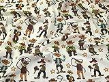 Cowboys Print Polycotton Kleid Stoff