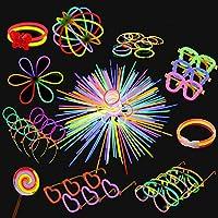 Colori Misti Compleanni Discoteche Illuminazione per Feste Accessori per Feste Carnevale Glow Stick Bastoncini Fluorescenti Braccialetti Fluo Fluo party Bracciali Luminosi 100 PZ