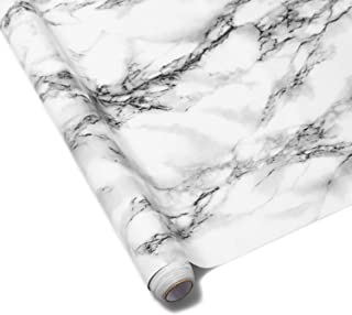 HappyHome Marble Contact Paper, 500 x 60cm Self-Adhesive Wallpaper Decorative Removable Wall Stickers with PVC Waterproof ...