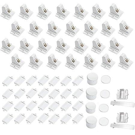 28 Locks + 4 Keys Magnetic Cabinet Locks - 2 Items: 12 Locks + 2 Keys Bundle with 16 Locks + 2 Keys