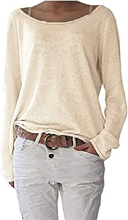 Fashion Women Oversized Loose Long Sleeve T-Shirt Baggy Plus Tops Casual Solid T Shirt Polos