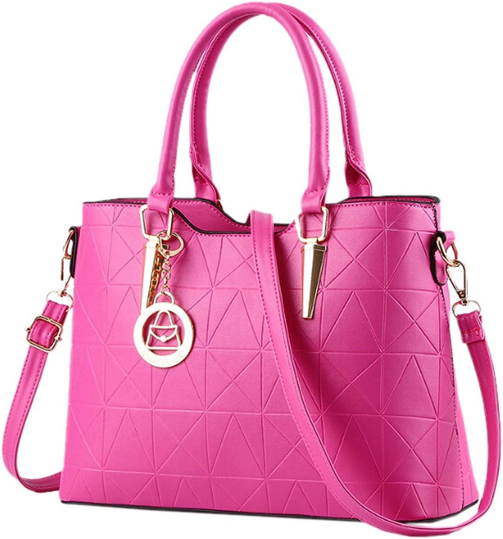 Catkit Women Designer PU Leather Shoulder Satchel Handbags Office Lady Top Handle Tote Purse