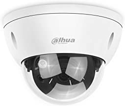 Dahua 6MP PoE IP Security Camera 6 Megapixels Super HD 3072x2048 Outdoor Surveillance Camera Dome IPC-HDBW4631R-S 2.8mm Lens with SD Card Slot IK10 IP67 Weatherproof ONVIF