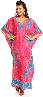 New Ladies Oversized Maxi Kimono Kaftan Tunic Caftan Dress Free Size