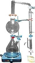 Cristalería material de laboratorio Equipo de laboratorio Nuevo laboratorio de destilación de vapor de aceite esencial de 2000 ml Equipos de cristalería Destilador de agua Purificador con estufa calie