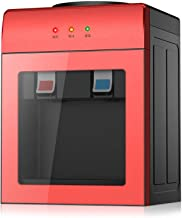 KUANDARGG Waterdispenser desktop-watertoevoer met warm en koud water Ideaal Kleine koelte Hot Home Sleep Mini, Rood, Heat ...
