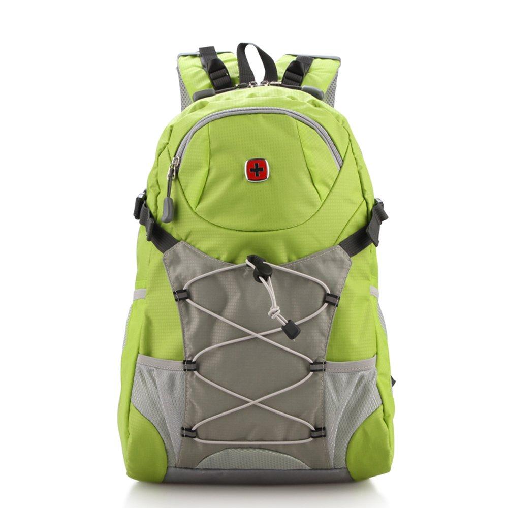 SABER GEAR 瑞士十字系列男士双肩包 户外旅行包14寸电脑包 时尚潮流女背包绿色SA1331-4#