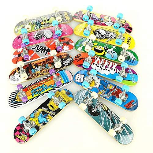 ANWAY Mini Skateboard para Dedos, Skate para Dedos, Juguete AntiEstres, Juguete de...
