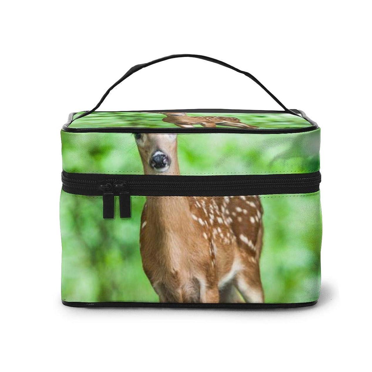 マーチャンダイジングキャンプ聴衆化粧品バッグ 収納バッグ 野生動物の鹿 ウォッシュバッグ 化粧品収納ケース 収納ボックス 化粧品入れ パッケージ 化粧箱 大容量 軽量 ポータブル 旅行する 可愛い
