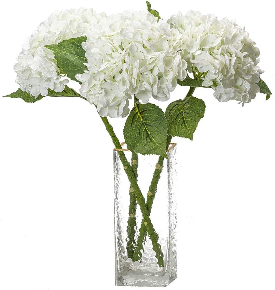 DUYONE 3PCS Max 74% OFF Artificial Outlet SALE Flowers Large Hydrangeas Bo Latex