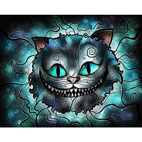 5D Pintura Diamante Kit Taladro Completo DIY punto de cruz Crystal Rhinestone manualidades Bordado Artes para el Hogar Decoración de la Pared Cabeza de gato de boca grande -40x50 E2813