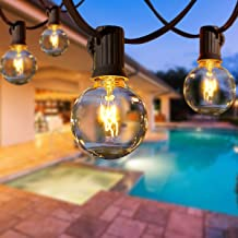 Ljusslingor för utomhusbruk, AETKFO 31 FT trädgård girlang lampor G40 25 + 4 (reserv) volframlampor uteplats utvändig ljus...