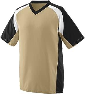 Augusta Men's Nitro Jersey, Vegas Gold/Navy/White, Large