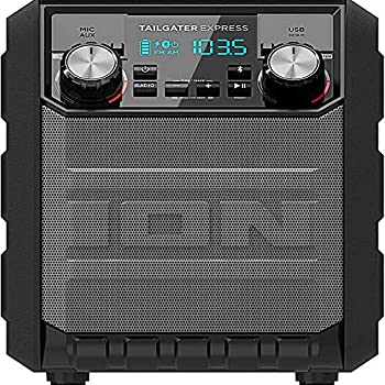 Ion IPA70 Tailgater Express Portable Bluetooth Party Speaker Water Resistant - 30 Hr Battery - Black