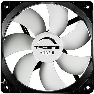 Tacens Aura II - Ventilador para ordenador (8 cm, +60.000 h, sistema anti-polvo), negro
