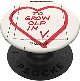 Marvel WandaVision Westview The Grow Old In Heart PopSockets PopGrip - Support et Grip pour Smartphone/Tablette avec un To...
