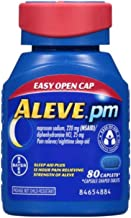 Aleve PM with Easy Open Arthritis Cap, Caplets with Naproxen Sodium, 220mg (NSAID) Pain Reliever/Fever Reducer/Sleep Aid, 80 Count - 2 Packs