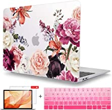 Maychen MacBook Pro 13 inch Case 2019 2018 2017 2016 Release A2159 A1989 A1706 A1708, Screen Protector & Keyboard Cover Plastic Laptop case for Newest Pro 13 with/Out Touch bar -Watercolor Roses