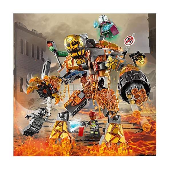 LEGO-Super-Heroes-Marvel-la-Battaglia-di-Molten-Set-di-Costruzioni-per-Bambini-da-7-Anni-ed-Appassionati-Multicolore-76128