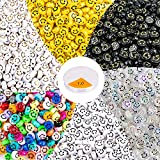 MyRalice 300 Pieces Acrylic Smiley Face Beads, 6x10mm Colorful Happy Face Loose Spacer Beads Mixed Resin Charms Beads for DIY Jewelry Bracelet Earring Necklace Craft Making Supplies (Colorful)