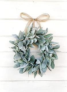 Mini Wreath, Small Wreath, Window Wreath, Farmhouse Wreath, Lambs Ear Wreath, Farmhouse Decor, Spring Wreath, Summer Wreath, Holiday Wreath, Gift, Housewarming Gift, Wall Hanging